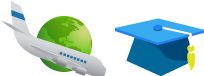 logo de avion para el programa de pasantia en equinoterapia